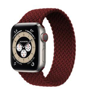 NEW Wine Red Braided Solo Loop For Apple Watch